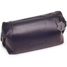 fad2dd0cf58 Personalized Leather Toiletry Kit - Free Personalization Favors by  Serendipity.  49.99 Toiletry Bag, Travel