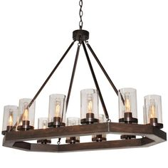 "Medieval Modern 12-Light Chandelier (24""Hx23""Wx38""L) --1100"