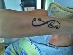 Tattoo love forever dog paw