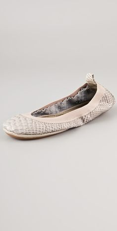 LOVE these snake (and affordable!) flats
