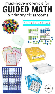 These must-have math materials help guided math run smoothly and offer great options for differentiating math centers! Fun Math, Math Games, Math Activities, Fraction Activities, Math Stations, Math Centers, Kindergarten Math, Teaching Math, Elementary Math