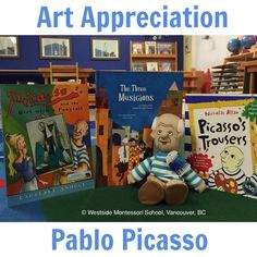 """This month we explore the life and work of one of the greatest and most influential artists of the 20th century, Pablo Picasso. He was born in Spain and lived most of his adult life in France. He was a painter, sculptor, printmaker, ceramicist, stage designer, poet and playwright. """"I paint objects as I think them not as I see them."""" ~ Pablo Picasso Montessori Art, Art Curriculum, Playwright, Pablo Picasso, Elementary Art, The Life, Poet, Printmaking, Children"""