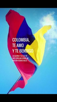 Colombia te bendigo, decreto que estamos en la mano de Dios Colombia Flag, Colombia Travel, Spanish Vocabulary, Learning Spanish, Country, Movie Posters, Travelling, David, Celestial