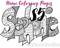 color your name any name your name as a printable coloring page simply purchase item and include a note with the name you need
