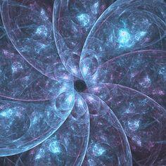 Mariia Kalinichenko Art Print featuring the digital art Deep Blue And Violet Flower by Mariia Kalinichenko #MariiaKalinichenko