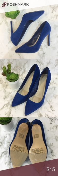 Forever 21 like new royal blue faux suede pumps Gorgeous like new faux suede royal blue pointed toe pumps from Forever 21. Size 7.5. 4 inch heels. Offers welcome. Thanks for shopping my closet! Forever 21 Shoes Heels