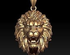 Lion pendant closed mouth print model jewellery pendant, formats STL, ready for animation and other projects Pendant Jewelry, Gold Pendant, Small Diamond Rings, Lion Necklace, Lion Ring, 3d Printable Models, Platinum Earrings, Jewelry Model, Jewelry Photography