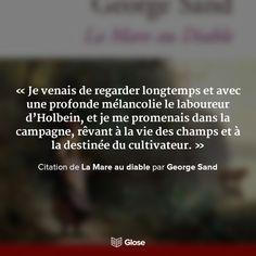 Citation de La Mare au diable par George Sand
