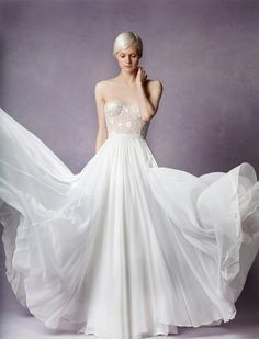 Needle & Thread, known for it's contemporary romantic style, recently launched a beautiful wedding dress collection that the modern bride will love. Since launching their capsule collection in… Perfect Wedding Dress, One Shoulder Wedding Dress, 2016 Wedding Dresses, Dresses 2016, Dress Wedding, Wedding Bells, Formal Dresses, Boho Gown, Bridal Jumpsuit
