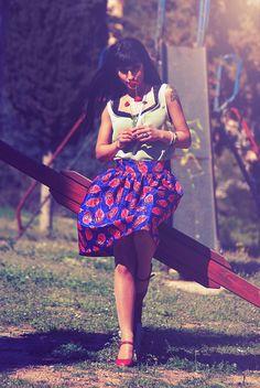 charoula-stamatiadou-photography-fashion-beautiful-brunette-girl-woman-walking-playground-slide-sunlight-shadows-vintage.jpg (715×1068)
