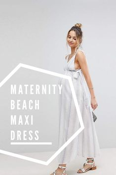 Check out this gorgeous ASOS maternity maxi dress! Perfect summer pregnancy dress! #maternitydress #maternitymaxi #pregnancymaxi #summermaternity #springmaternity #affiliate