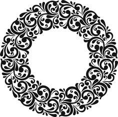 Stencils, Stencil Painting, Fabric Painting, Stencil Patterns, Stencil Designs, Paint Designs, Border Design, Circle Design, Pattern Design