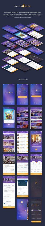 QuickBook Hotel Booking iOS UI Kit - Visual Hierarchy