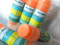 Juicy Mango Flavor Lip Balm Natural and paraben by CARIBBEANSCENTS, $4.25