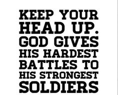 Yeah this is really essential to stand firm against all kind of pain and hardships. If you think that you are a strong soldier of God. Then don't let your Tears come out due to struggling life.  #soldiers #MotivationalQuotes #Quotes #Hardships