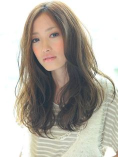 Image result for ゆるいパーマ髪型 ロング