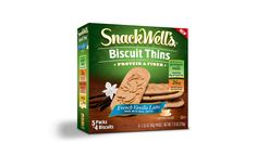 SnackWell's French Vanilla Latte Biscuit Thin. 5 Packs of 4 Biscuits.