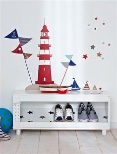 Para transformar su #habitación... ¡en un # bonito paisaje #marinero! 44…