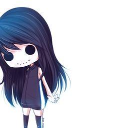 Ghost V2 - death anime chibi girl, emo scene girl, goth, gothic, dark, darkness