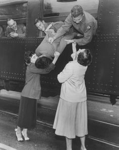 World War Two inspired a lot of noteworthy kisses of couples sadly saying goodbye or happily being reunited again.