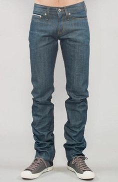 Greencast broken twill denim by Naked and Famous