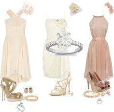 """""""Courthouse wedding dresses."""" by ingrid-garrido on Polyvore"""
