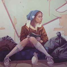 Awesome street art by Etam Cru (Sainer and Bezt) http://www.booooooom.com/2015/11/08/the-paintings-of-large-scale-masters-etam-cru-sainer-and-bezt/ #streetart #graffiti