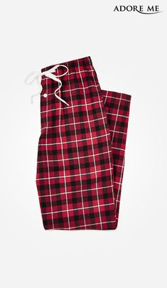 These men s flannel pants in red plaid are a classic must have for the  Holidays. 307f8d027