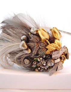Great Gatsby hair accessories Sheena Holland Antiquities Feather Headband