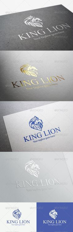 King Lion #GraphicRiver Powerful lion head logo for strong companies. The lion head is 100% vector shapes. All text is editable. The ZIP contains: - AI CS file - EPS CS file - PSD file - help document Free Fonts used: - .dafont /search.php?q=doulos - .fontpalace /font-details/MyriadPro-Regular/ If you like this item and have a moment to rate it, I'll be very grateful! *Note: Mock-ups shown in this preview are not included, only used for presentation purposes. Created: 27August13…
