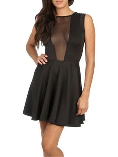 This sshall be mine!!! Mesh Inset Skater Dress from ArdenB.com