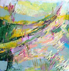 """Tindersticks"" #nature #abstractpainting Jenny Vorwaller"
