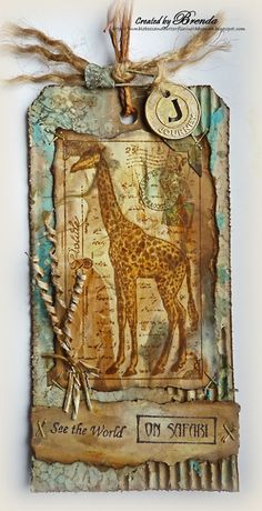 Safari Giraffe Tag #papercraft #tags