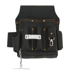 70603 -10 Pkt Electrician's Tool Pouch in Oiled Leather – Style n Craft