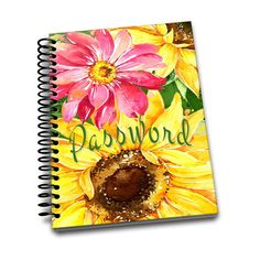 Password Book | Sunflower | Premium Password Logbook | Online Organizer | Protect Sensitive Information | 5 x 8 Inches | Spiral Bound