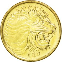 ETHIOPIA, 5 Cents, 2008, KM #44.3, MS(63), Brass Plated Steel, 20, 2.94