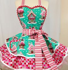 Gingerbread Christmas Apron Sweet Treats by SassyFrasCollection                                                                                                                                                                                 More