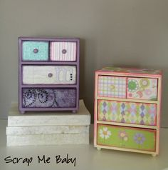 Scrap Me Baby:  DIY jewelry boxes-so pretty but would it mean more if diy by child?