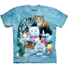 KITTENS T-Shirt The Mountain Cute Cat Feline Pet Tee S-3XL NEW #TheMountain #GraphicTee