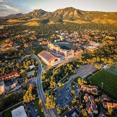 Super cool view of Boulder from @stephenshelesky!