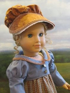 1812 Regency Summer Gown & Bonnet by petrassewingbox via eBay auction, Sold for $89.89 1/12/13.