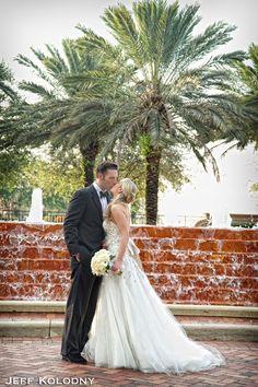 Bride and groom photo taken at Broken Sound Country Club,  Boca Raton FL.