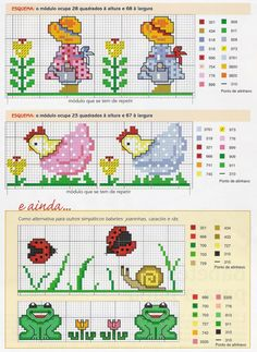 kids and flowers cross stitch charts