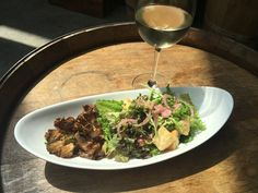 Try our new Roasted Oyster Mushrooms with a glass of wine at the Brooklyn Winery wine bar