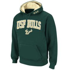 Stadium Athletic South Florida Bulls Green Arch & Logo Pullover Hoodie