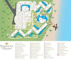 Secrets SIlversands Resort Map ~ Unlimited Vacation Club