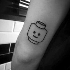 Pin by maddy on tattoos lego tattoo, jewelry tattoo, japanese hand tattoos. Mini Tattoos, Black Tattoos, Small Tattoos, Tattoos For Guys, Game Tattoos, Tatoos, Get A Tattoo, Arm Tattoo, Samoan Tattoo