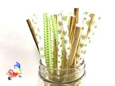 Assorted St Patrick's Day Paper Straws St by ThePartyGnome on Etsy