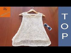 Top de Verano para principiantes en dos agujas - Soy Woolly - YouTube Black Crochet Dress, Crochet Crop Top, Crochet Blouse, Diy Crochet, Soy Woolly, Diy Crafts Knitting, Knitting Patterns, Summer Knitting, Knitting Tutorials