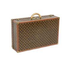 Louis Vuitton Large Monogram Hard Bisten Travel Suitcase